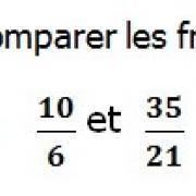 Exercices corrigés de maths 6éme - Fractions comparaison et réduction le dénominateur