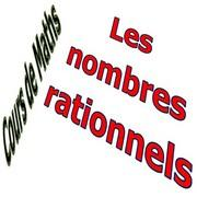 Exercices corrigés introduction aux nombres rationnels maths 3éme