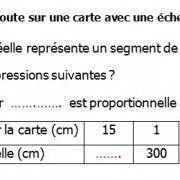 Exercices corrigés de maths 5éme - La proportionnalité l'échelle