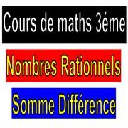 Exercices corrigés les nombres rationnels addition et soustraction maths 3éme