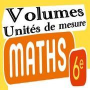 Exercices corrigés de maths 6éme - les volumes unités de mesure