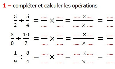 Exercices de maths 6me fractions multiplication et division exercices appliques et exercices corriges de maths 6me les fractions multiplication et division rduire au altavistaventures Choice Image