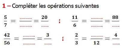 Exercices De Maths 6eme Fractions Egalite Et Simplification