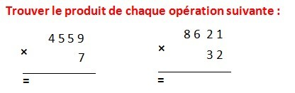 EXERCICES APPLIQUÉS  DE MATHS 6éme  Les opérations Addition Soustraction Multiplication Division