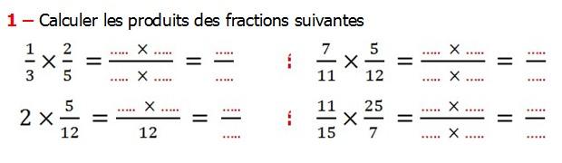 Exercices corrigés de maths 6éme - Fractions ...