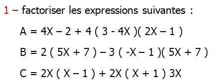 maths 3ème Collège Développement factorisation identités ...